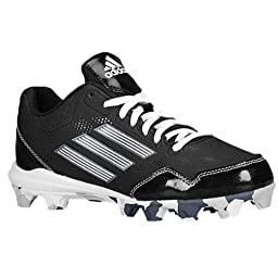 adidas Performance Wheel House 2 K Baseball/Softball Shoe (Little Kid/Big Kid), Black/Carbon/White, 2.5 M US Little Kid