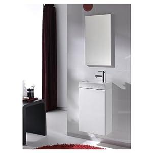 waschplatz gaeste wc spiegel regal waschbecken badmoebel. Black Bedroom Furniture Sets. Home Design Ideas
