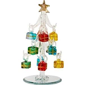 #!Cheap Mini Crystal Christmas Tree with Gift Box Ornaments