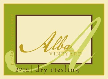 2012 Alba Vineyards Dry Riesling 750 Ml