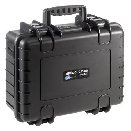 Type 4000 Black Outdoor Case With Custom Foam front-236917