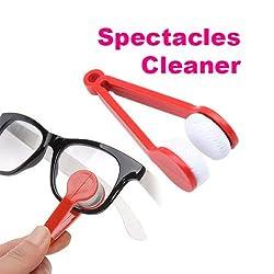 MagnusDeal® Multi-functional Microfiber Glasses Eyeglasses Brush Cleaner Cleaning Clip