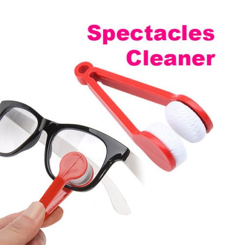MagnusDeal® Multi-functional Microfiber Glasses Eyeglasses Brush Cleaner Cleaning Clip