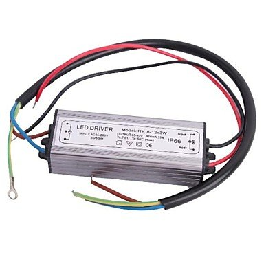 Zclwaterproof Ip66 (8-12)X3W Led Driver Power Source Converter (25-40V,600Mah)