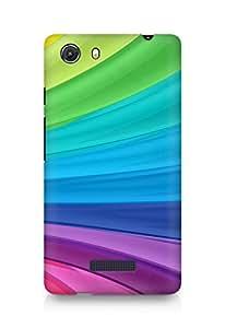 Amez designer printed 3d premium high quality back case cover for Micromax Unite 3 (Rainbow Swirl)