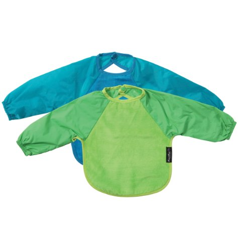 Sleeved Wonder Bib, Sz Lge, 2 pack - Lime / Teal - 1