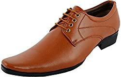 Red Foot Mens Brown Synthetic Derby Shoes - 10 UK