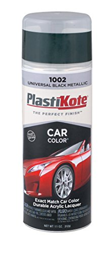 PlastiKote 1002 Universal Black Metallic Automotive Touch-Up Paint - 11 oz. (1993 Honda Accord Touch Up Paint compare prices)