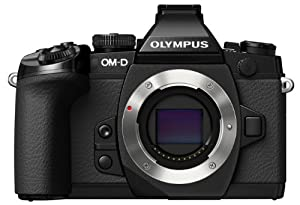 Olympus OM-D E-M1 Mirrorless Digital Camera with 16MP and 3-Inch LCD (Body Only) (Black)