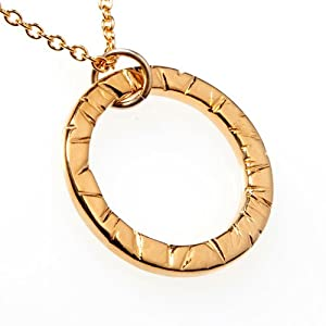 Infinity Gold-dipped Pendant Necklace on 18