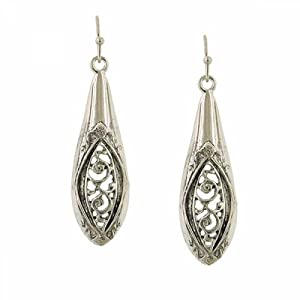 1928 Jewelry Vintage Inspired Drop Spoon Handle Earrings