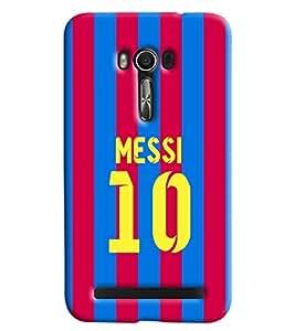 Clarks Messi 10 Hard Plastic Printed Back Cover/Case For Asus Zenfone 2 (ZE550KL)