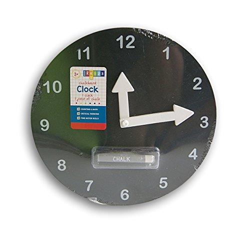 Black-Chalkboard-Teaching-Clock-with-Chalk-10-Diameter