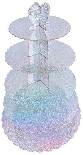 "Cake Stand Tiered - Multi Colored 5 Tiered Pastry Cupcake Holder Colorful Stand Tower - 15.50""L x 22.50""H x 15.50""W"