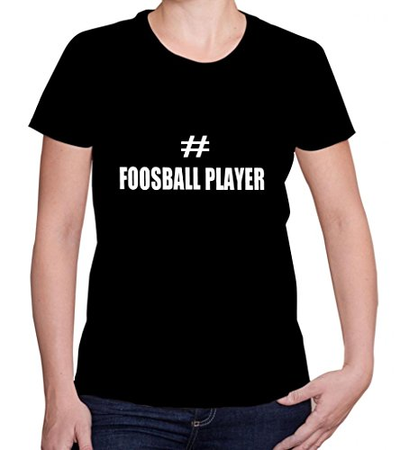 FOOSBALL-PLAYER-Womens-Short-Sleeve-T-ShirtTee-Shirt-Top