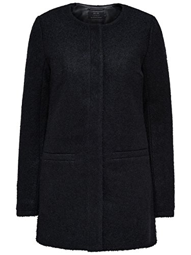 ONLY - Cappotto classico donna new pier wool s nero