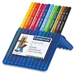 Staedtler Coloured Pencil Set : Ergosoft Set of 12 In Unique Blue Case