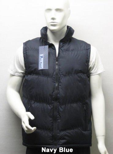 Padded Sleeveless Bodywarmer Gilet Vest Jacket Body Warmer in Navy Blue, Size Medium