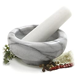 Norpro Marble Mortar And Pestle - Quarter Cup