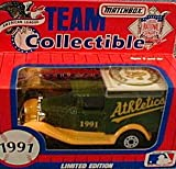 Oakland Athletics A's 1991 Matchbox MLB Diecast Ford Model A Truck White Rose Collectible Toy Car 1:64 Scale