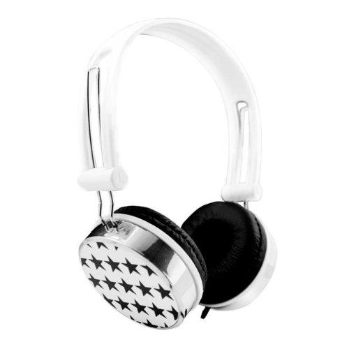Nuoya001 Stars Childrens Kids Overhead Dj Headphones Earphones Laptop Notebook Pc / White