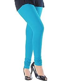 Sapir Women's Viscose Leggings (Turqblue12_Turquoise_Free Size)