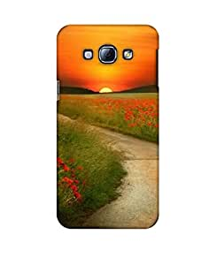 Pick Pattern Back Cover for Samsung Galaxy A8 (MATTE)