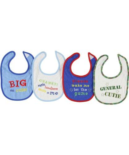 Regent Baby 4 Piece Crib Mates Bib Set, Blue/Pink