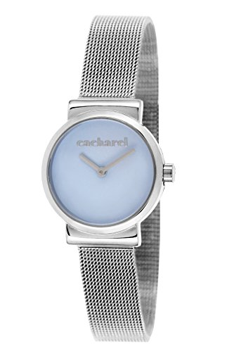 Cacharel CLD - 044/IM Women's Quartz Analogue Watch with Silver, Blue Dial Steel Strap