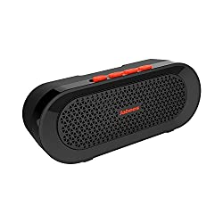 Jabees beatBOX BI Wireless Bluetooth Speaker with Powerful 6W sound inbuilt mic and bike mount with Water Proof IPX4 rated. Great audio with bass for ipad / iPhone / Android / Blackberry / Laptop / Pc/ Bike/ must have product for Hiking/Cycling/Shower/Golfing/Good product for outdoor camping and indoor use (Black-Orange)