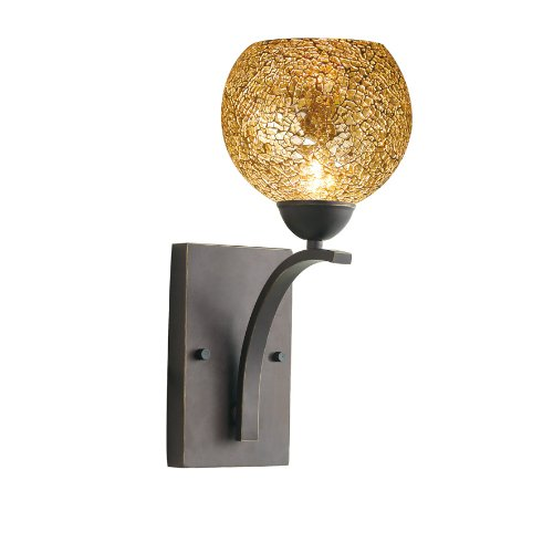 Woodbridge Lighting 13051MEB-M00MIR North Bay 1-Light Wall/Bath Sconce, 6-Inch by 13-3/4-Inch by 8-Inch, Metallic Bronze