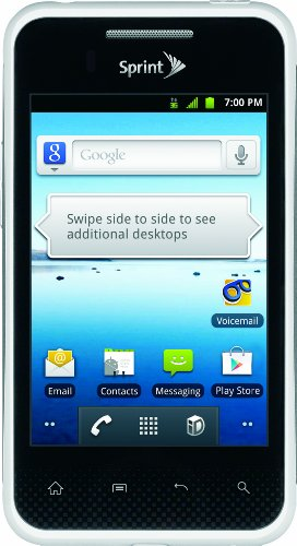LG Optimus Elite Android Phone, White (Sprint)