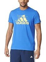 adidas Camiseta Manga Corta Ess Logo (Azul)