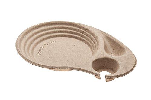 Vassoi Zen Design monouso - 50 pz - 230x335mm - Biodegradabili e Compostabili