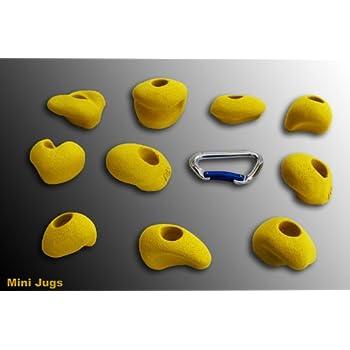 prises d'escalade Mini Jugs M, Farbe:grau