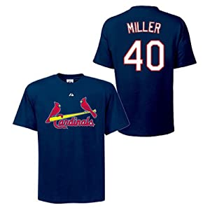 Shelby Miller St Louis Cardinals Navy Player T-Shirt by Majestic by Majestic
