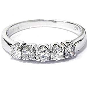 .50CT Round Diamond Wedding Anniversary White Gold Ring