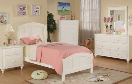 White Bedroom Furniture Set 7678 front