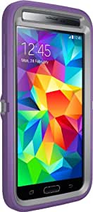 Otterbox [Defender Series] Samsung Galaxy S5 Case - Frustration-Free Packaging Protective Case for Galaxy S5 - (Gunmetal Grey/Opal Purple )