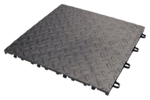 Gladiator GarageWorks GAFT04TTPC Charcoal Floor Tile, 4-Pack
