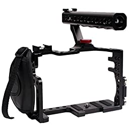 DSLR Camera Cage With Top Handle Grip For Camera Rig Panasonic Lumix GH3 GH4