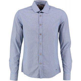 Camicia a maniche lunghe Uomo cuadrito Blu Petrol Industries blu L