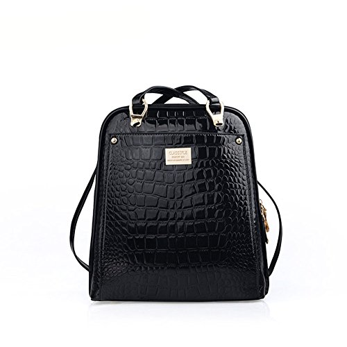 Grebago Women's Crocodile Shoulder Bag Backpack Schoolbag Fashion College Wind flb12084 hamburg s new fashion backpack shoulder bag college wind backpack schoolbag shoulder bag personality