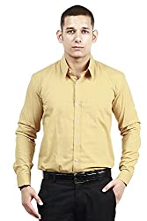 Trendster Winsome Solid Brown Formal Shirt