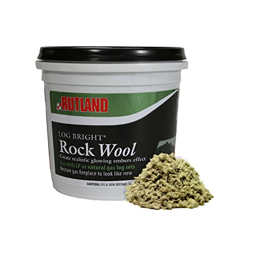 Best Buy! Rutland 587 Bright Rock Wool for Gas Log