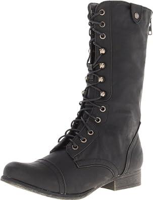 Madden Girl Women's Gemiini Boot,Black Multi,6 M US