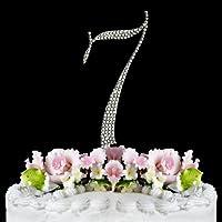Rhinestone Cake Topper Number 7