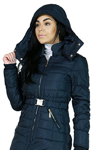 Zip-up Closure Quilted Light-weight Fashion Jacket Outerwear for Women (MEDIUM, NAVY-JZP004)