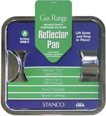 Stanco 900-S Square Gas Pan, Chrome (Universal Stove Drip Pans Gas compare prices)