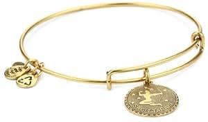 "Alex and Ani ""Bangle Bar"" Rafaelian Gold Finish Sagittarius Bracelet"